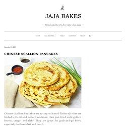 Chinese Scallion Pancakes (Cong You Bing) - Jaja Bakes - jajabakes.com