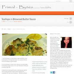 Scallops in Browned Butter Sauce