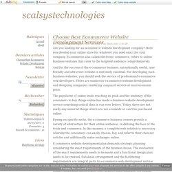Choose Best Ecommerce Website Development Services - scalsystechnologies