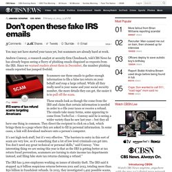 Scammers sending fake IRS phishing emails