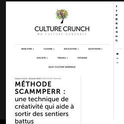 MÉTHODE SCAMMPERR : une technique de créativité qui aide à sortir des sentiers battus