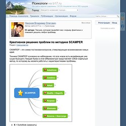 Креативное решение проблем по методике SCAMPER