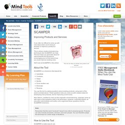 Scamper - Creativity tools from MindTools