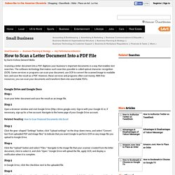 How to Scan a Letter Document Into a PDF File