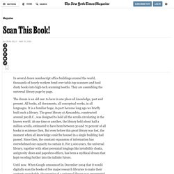 """Scan this book"", Kevin Kelly, NYT"