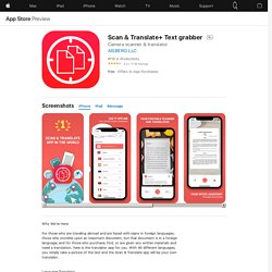 Scan & Translate+ Text grabber on the AppStore
