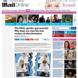 The REAL gender gap scandal: Why boys are the true victims of discrimination