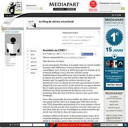 Scandale au CNRS ?