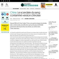 CHINE. Le scandale du sang contaminé version chinoise