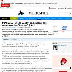"""SCANDALE ! Enedis SA offre un bon repas aux maires pour leur """"fourguer"""" linky !"""
