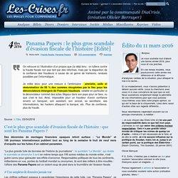» Panama Papers : le plus gros scandale d'évasion fiscale de l'histoire [Edité]