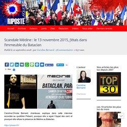 Scandale Médine : le 13 novembre 2015, j'étais dans l'immeuble du Bataclan