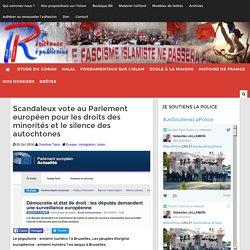 Scandaleux vote au Parlement européen pour les droits des minorités et le silence des autochtones
