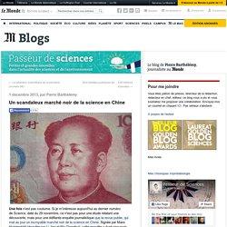 Un scandaleux marché noir de la science en Chine