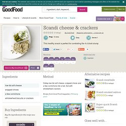 Scandi cheese & crackers recipe