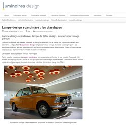 Lampe design scandinave - lampe de table design - suspension vintage panton