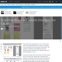 ScanDrop Scans Documents Directly to the Cloud