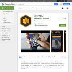 SCANN3D – Applications sur GooglePlay