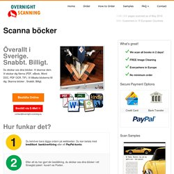 Scanna böcker i Sverige