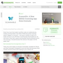Scannable: A New Mobile Scanning App from Evernote