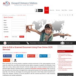 How to Edit a Scanned Document Using Free Online OCR Services