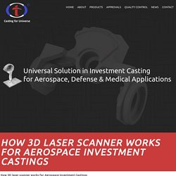 Using 3D laser Scanner Help for Aerospace Industry