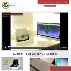 3D Scanner for 3D scanning - easy to use & low cost | CADScan