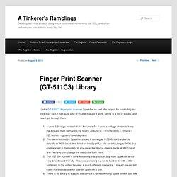 Finger Print Scanner (GT-511C3) Library