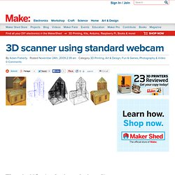 3D scanner using standard webcam @Makezine.com blog