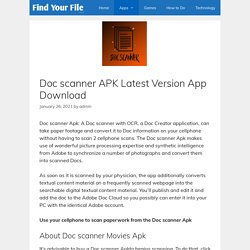 Doc scanner APK Latest Version App Download