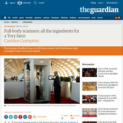 Full-body scanners: all the ingredients for a Tory farce