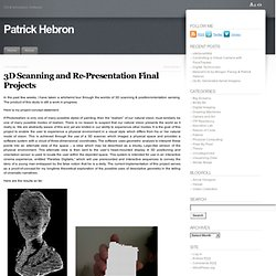 3D Scanning and Re-Presentation Final Projects « Patrick Hebron – ITP Blogs