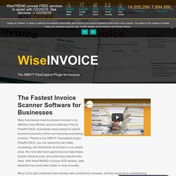 Get Best Invoice Scanning Software & OCR Scanner By WiseTREND