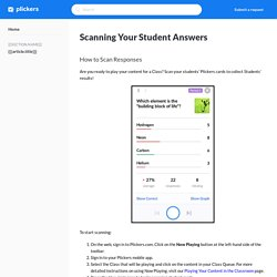 Scanning Your Student Answers – PlickersHelp