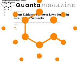 Scant Evidence of Power Laws Found in Real-World Networks