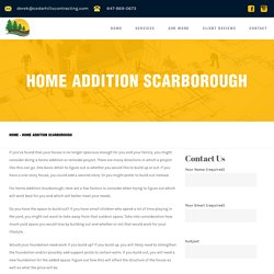 Home Addition Scarborough - Cedar Hills Contracting