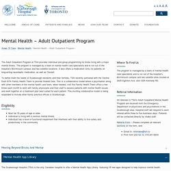 Mental Health – Adult Outpatient Program