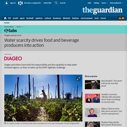 Water scarcity drives food and beverage producers into action