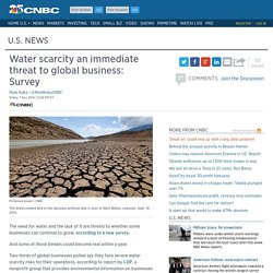 Water scarcity an immediate threat to global businesses: Survey/