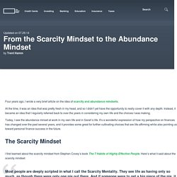 From the Scarcity Mindset to the Abundance Mindset