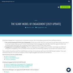 The SCARF Model of Engagement: Dr David Rock