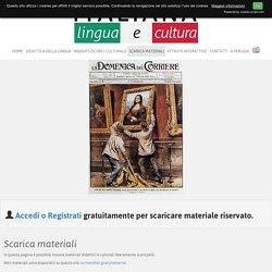Scarica materiali - ITALIANA - Lingua e Cultura
