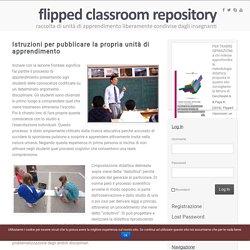 Scarica il modello per progettare modulo Flipped Classroom