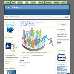 Tecniche di didattica inclusiva in un ebook scaricabile gratuitamente