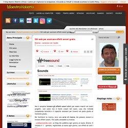 Siti web per scaricare effetti sonori gratis