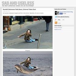 Scarlett Johansson Falls Down, Internet Takes Over