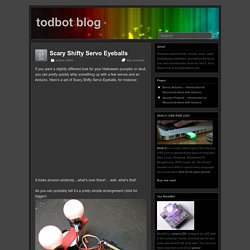 Scary Shifty Servo Eyeballs – todbot blog