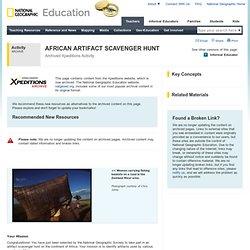AFRICAN ARTIFACT SCAVENGER HUNT