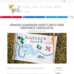 Spanish Scavenger Hunts (with Free Printable Checklists)