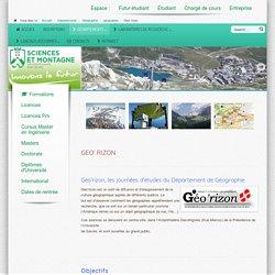 Des comptes-rendus synthèses sur des pbs actuelles en géographie, objet de leçons d'oral - Geo' rizon université de Savoie